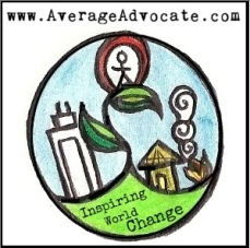 Average Advocate Inspiring World Change Button